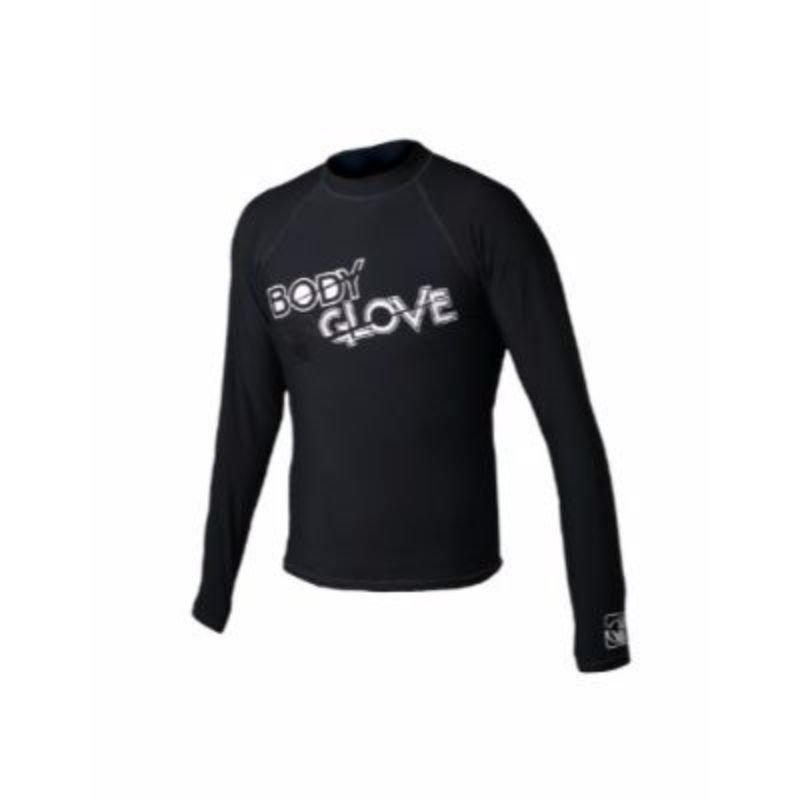 BODY GLOVE MEN'S LONG ARM RASHGUARD - BLACK