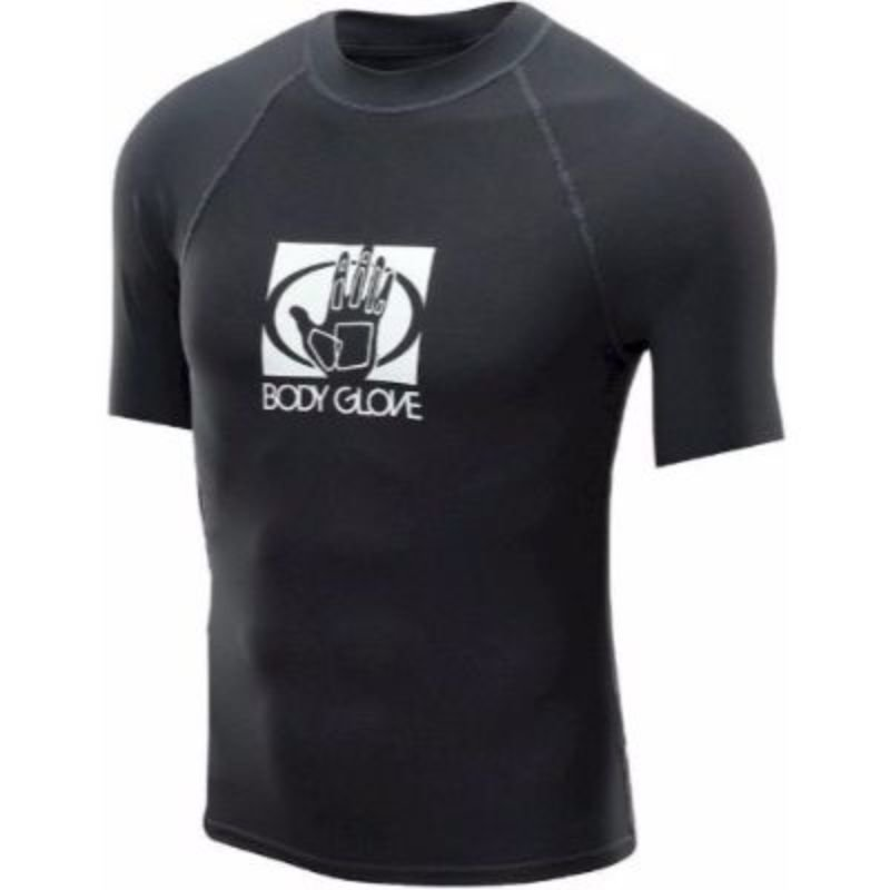 BODY GLOVE MEN'S SHORT ARM RASHGUARD - BLACK