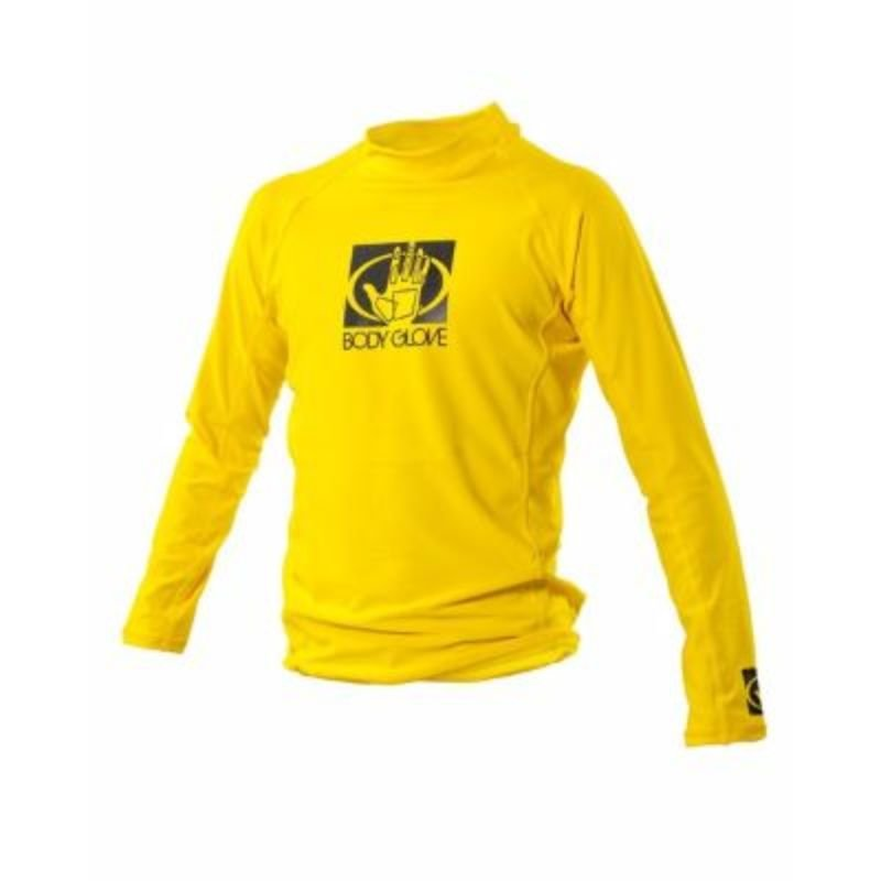 BODY GLOVE MEN'S LONG ARM RASHGUARD - YELLOW